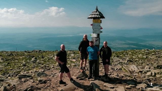 Babia Góra - ekipa na szczycie
