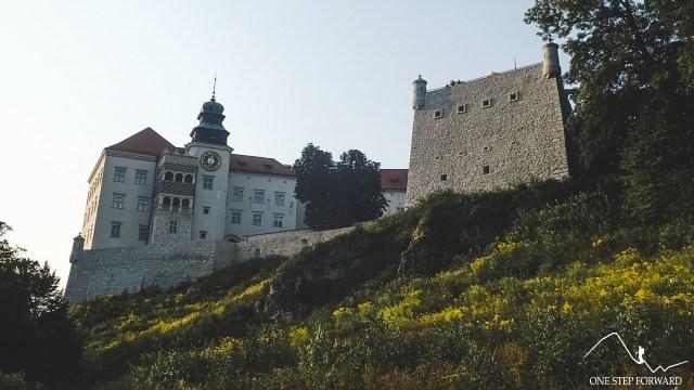 Zamek w Pieskowej Skale widoczny z okolic Maczugi Herkulesa