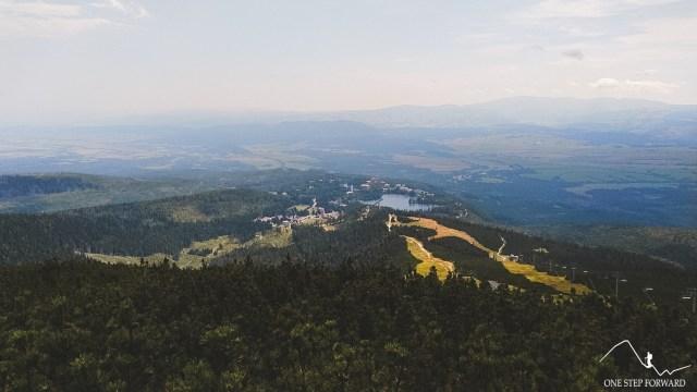 Skrajne Solisko - widok na Szczyrskie Jezioro
