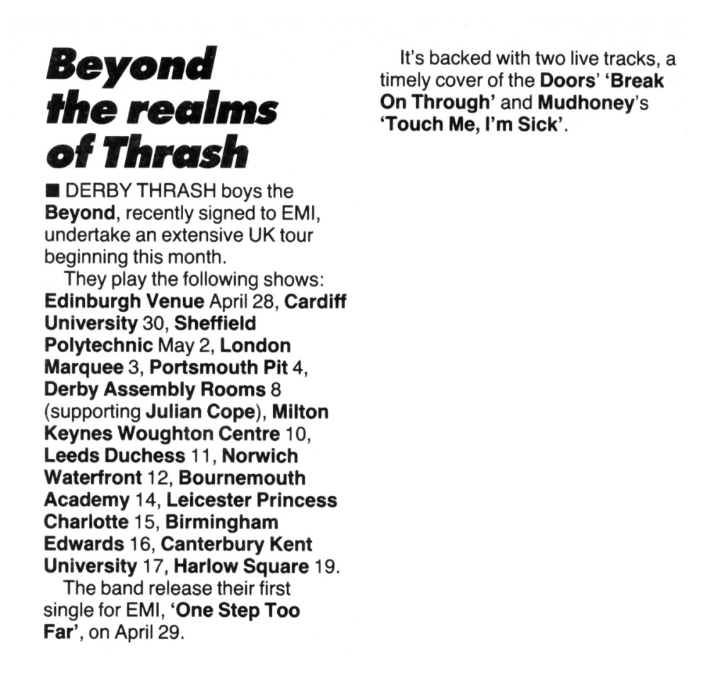 Beyond the realms of Thrash