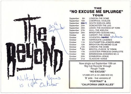 """No Excuse Me Splurge"" Tour"