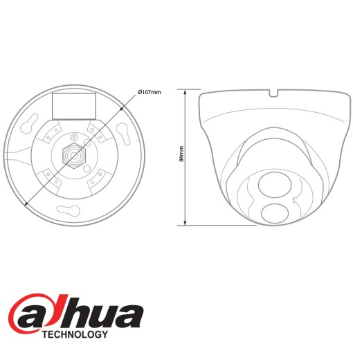 Dahua IP 1.3Mp Single IR dome camera - 3.6mm Lens