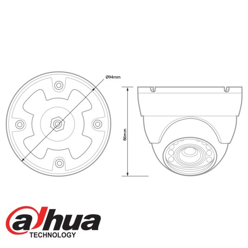 Dahua HDCVI 720p IR Mini Dome