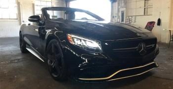 Mercedes S63 Convertible, rental car