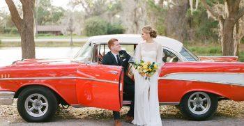 classic car, wedding car