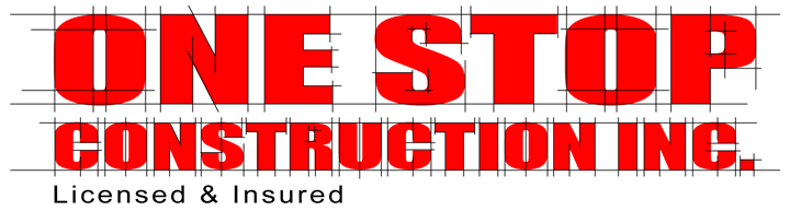 One Stop Construction White Background Licensed and Insured