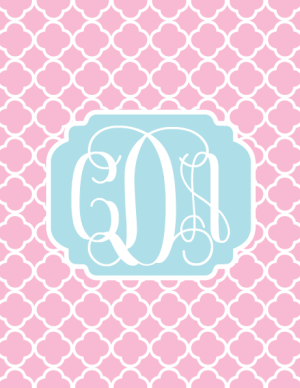 Pinterest Find :: Free Printable Monograms