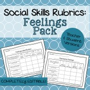 Feelings Social Skills Rubrics