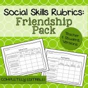 Friendship Social Skills Rubrics