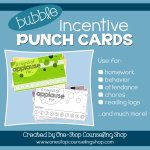 Behavior Incentive Punch Cards: Bubble Design
