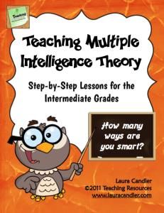 Teaching Multiple Intelligences