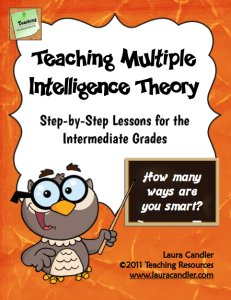 Teaching Multiple Intelligences