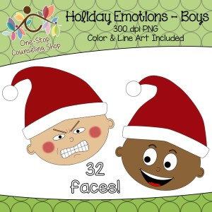 Holiday Emotion Clip Art
