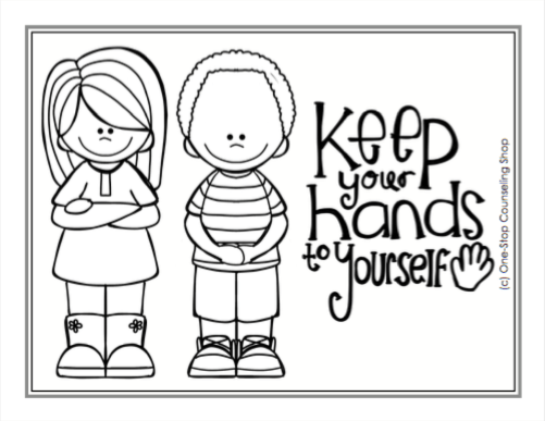 Manners and School Rules Posters & Coloring Pages