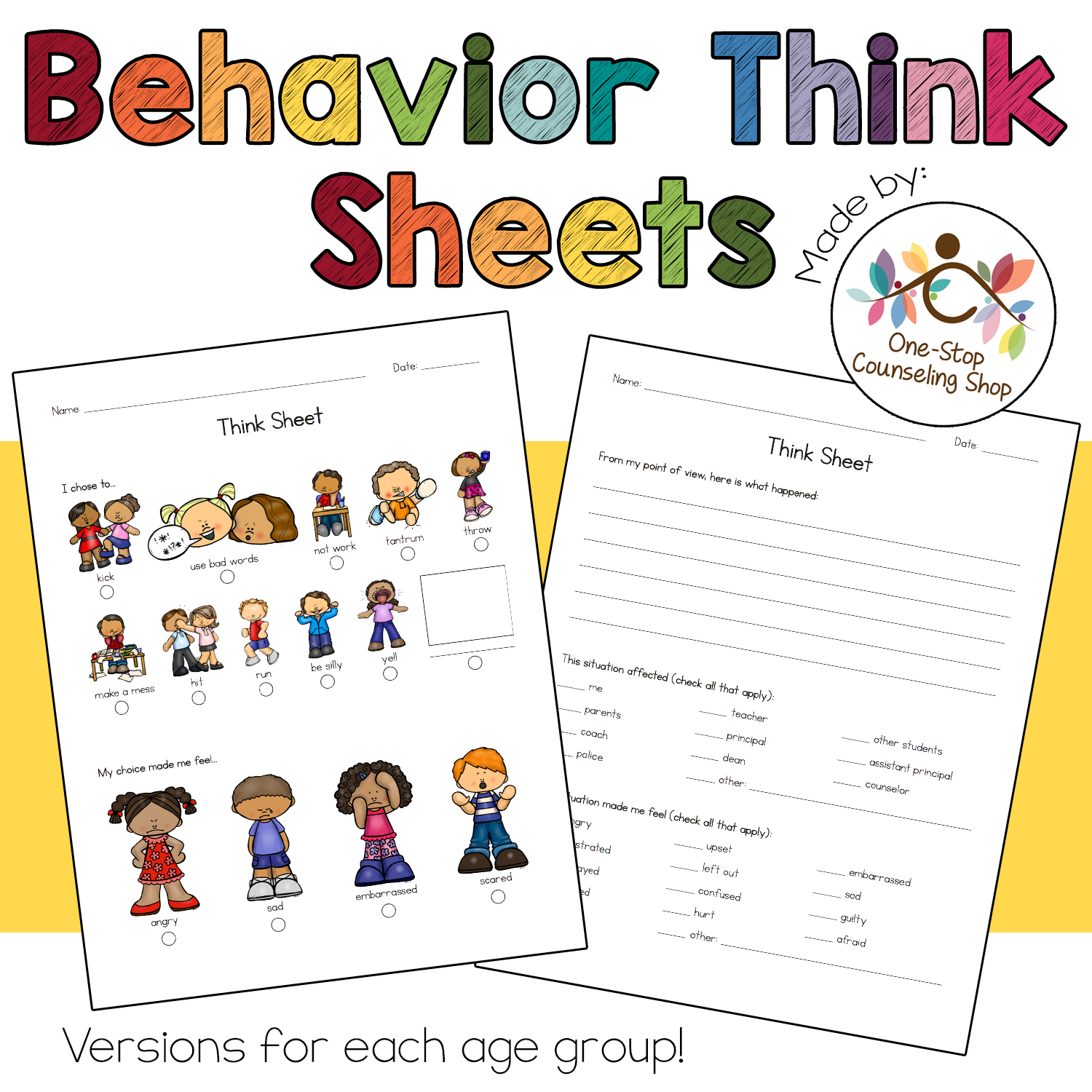 New Product Behavior Think Sheets