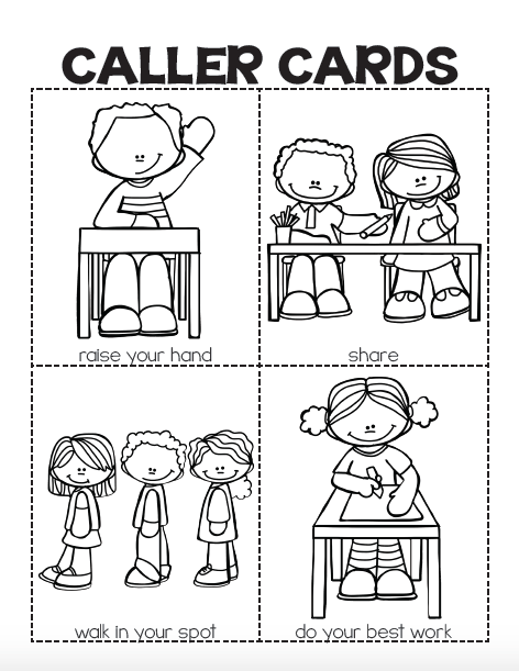 classroom rules coloring pages - photo#13