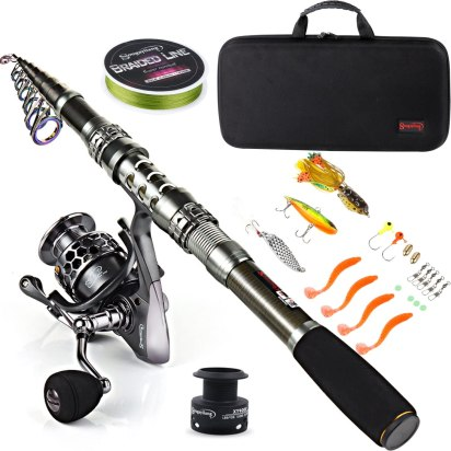 Travel Fishing Rod and Reel Combo