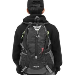Image of a man wearing a travel backpack