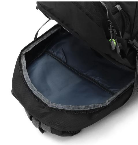 An image of a open backpack seeing inside