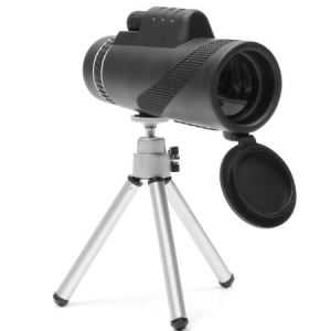 Telescope Lens on tripod with lens open