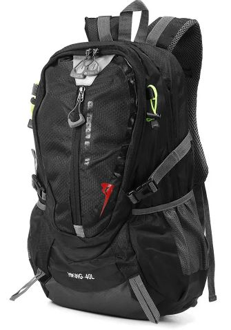 Image view of a black backpack.