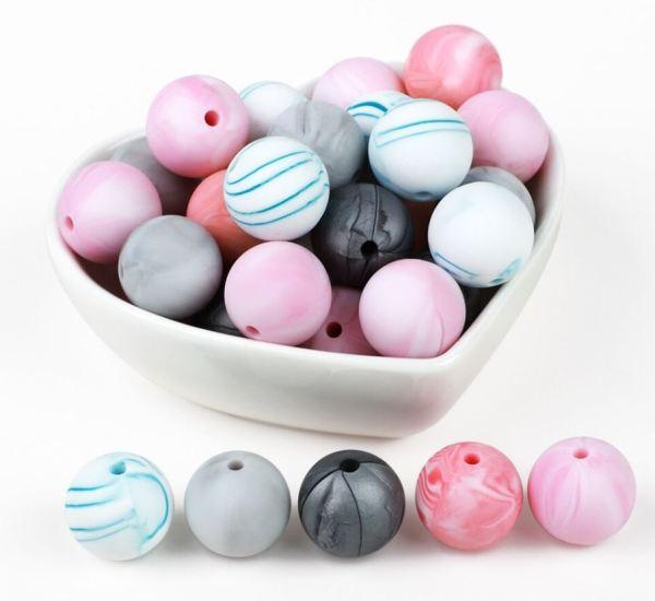 Round bowl of beads