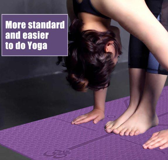 Yoga purple exercise mat