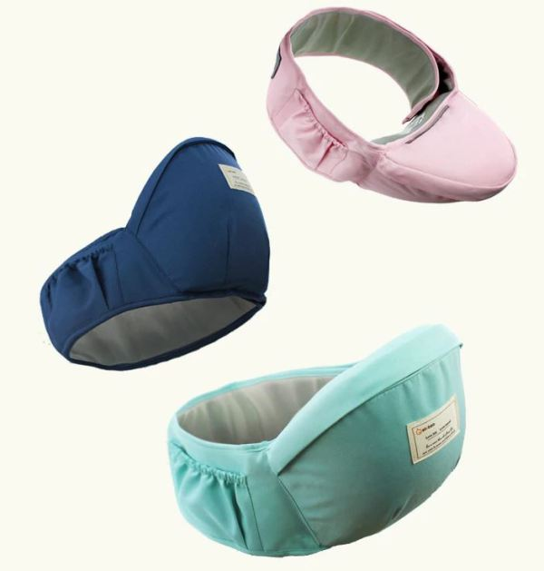 Seat area on Baby Carrier in 3 colors.