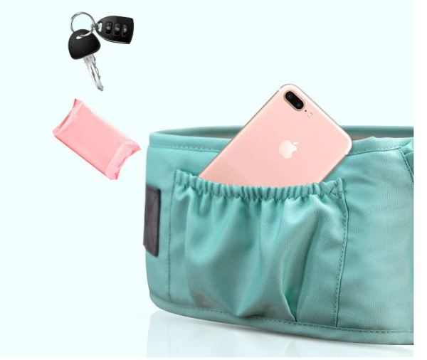 Storage Pouch on Baby Carrier