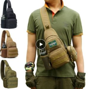 Image of man with overshoulder backpack showing 4 colors