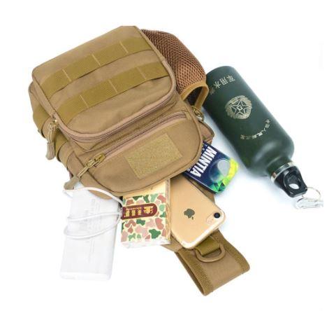 Image showing storage area of Men's Shoulder Sling Backpack