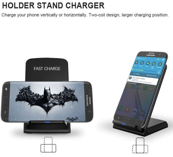 Image of a two position charging dock