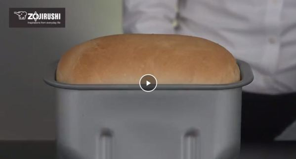 Freshly baked bread from machine