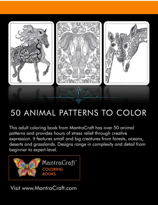 Fifty Animal Designs Coloring Book