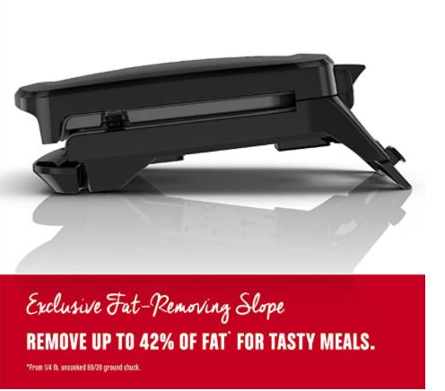 George Foreman Grill and Panini Press with Fat Removing Slope