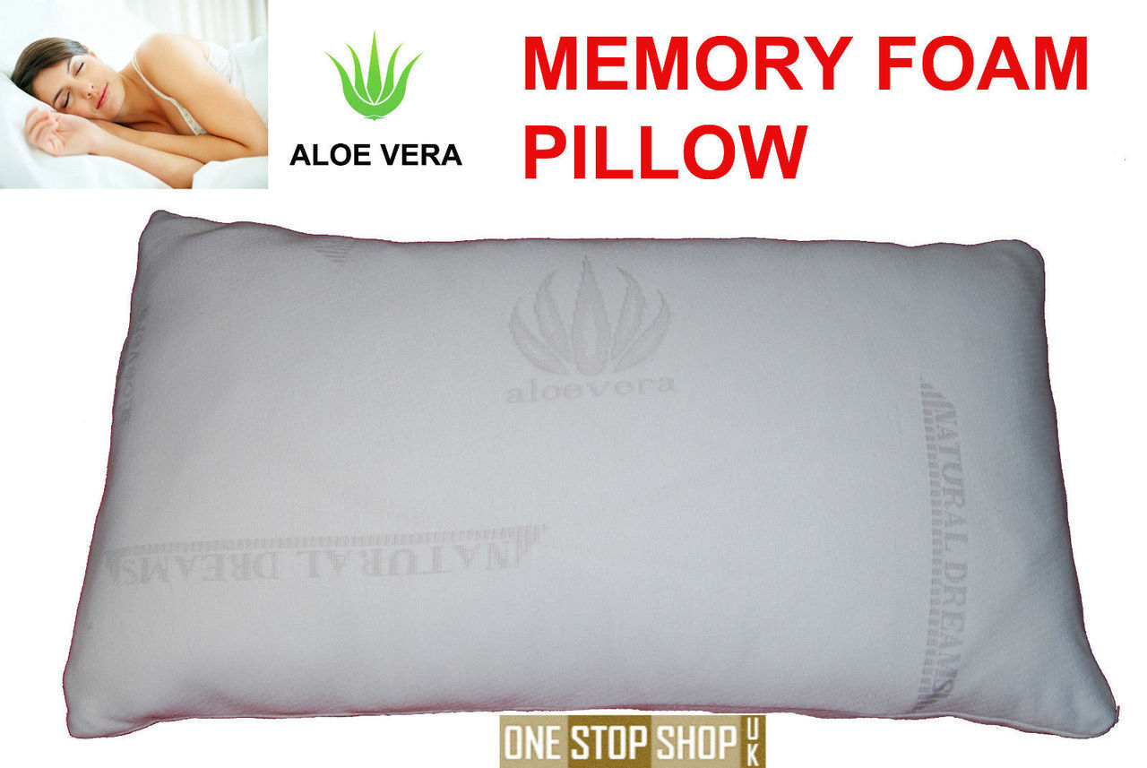 aloe vera memory foam pillows one