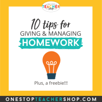 Top Ten Homework Tips for Teachers