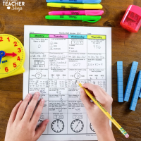 Math Spiral Review & Quizzes | Homework or Morning Work