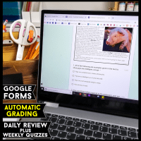 Digital Reading Review for Google Forms