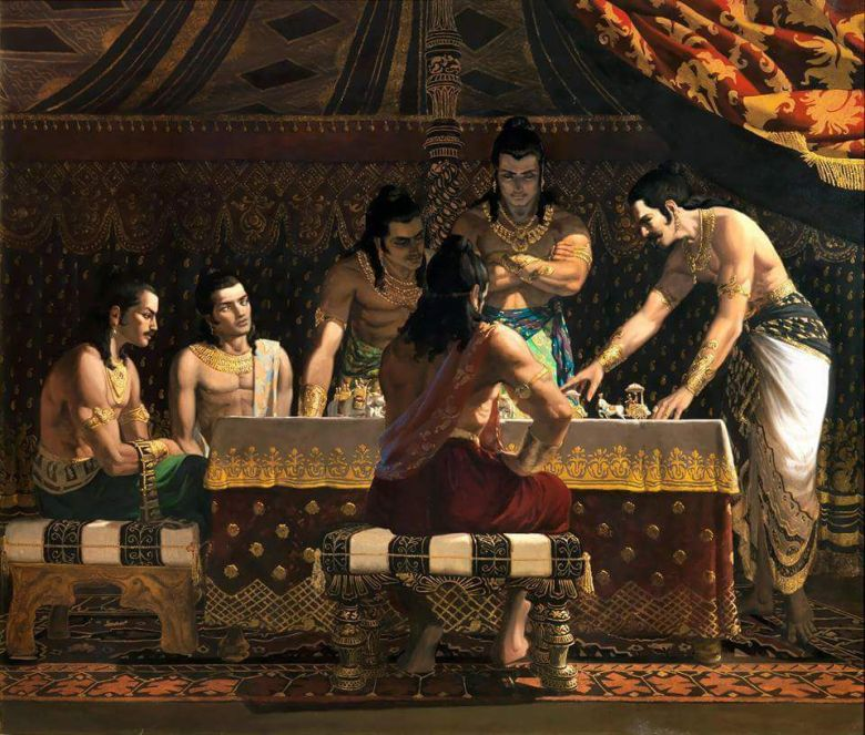 Pandavas planning the strategies of Mahabharat Kurukshetra war