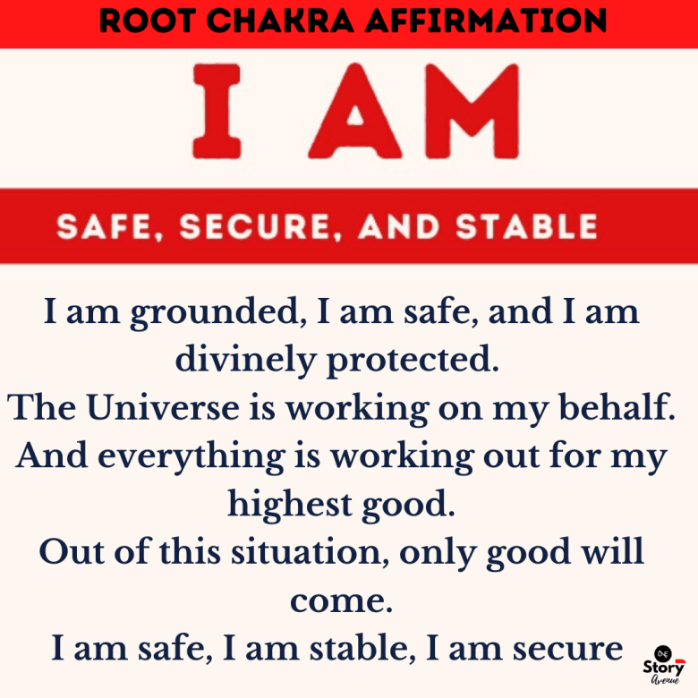 Positive Affirmation for the Root Chakra