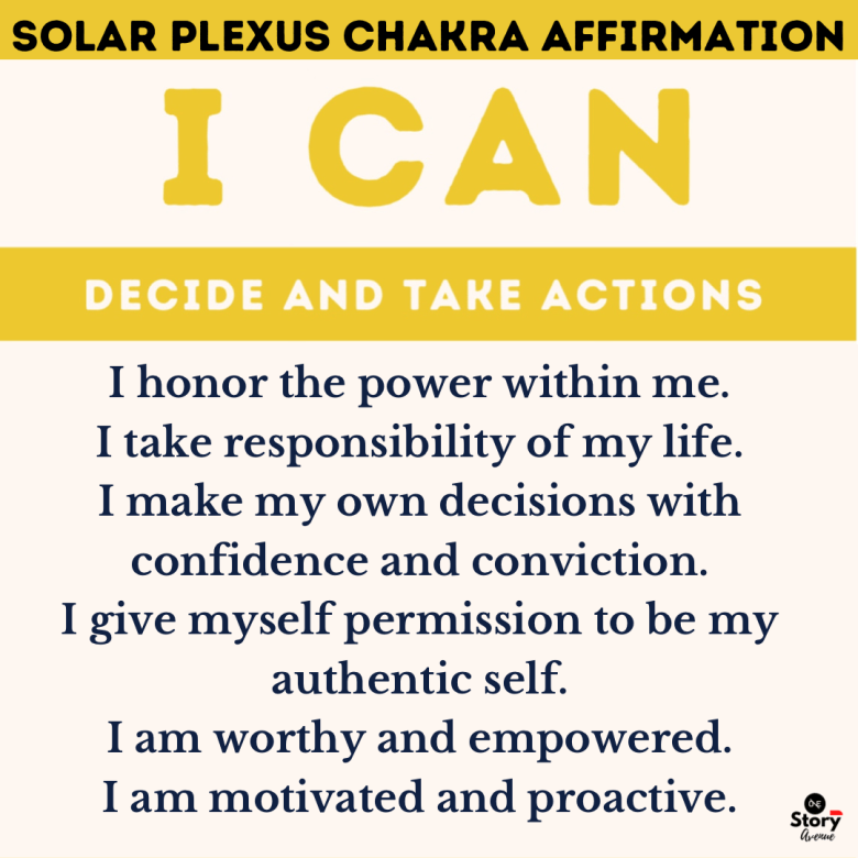 Affirmation for Solar Plexus Chakra