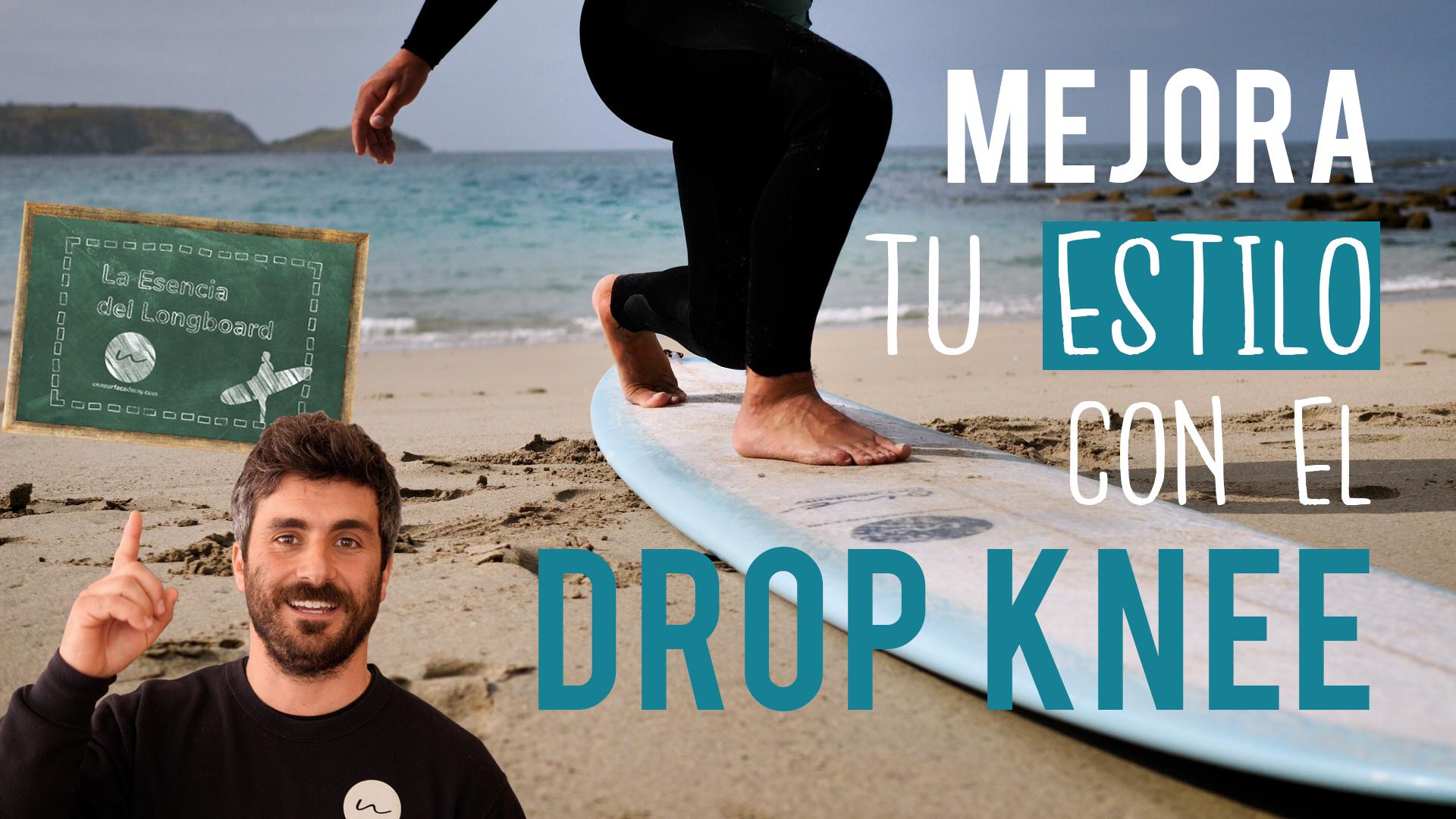 Maniobras del longboard | El drop knee cutback