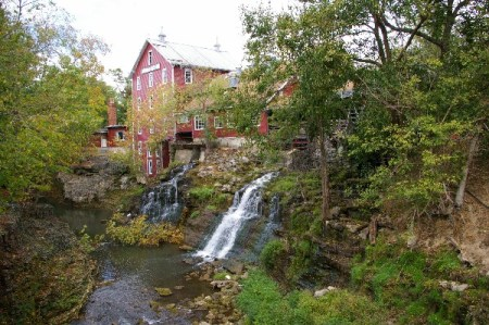 A daytime shot of the lovely old mill