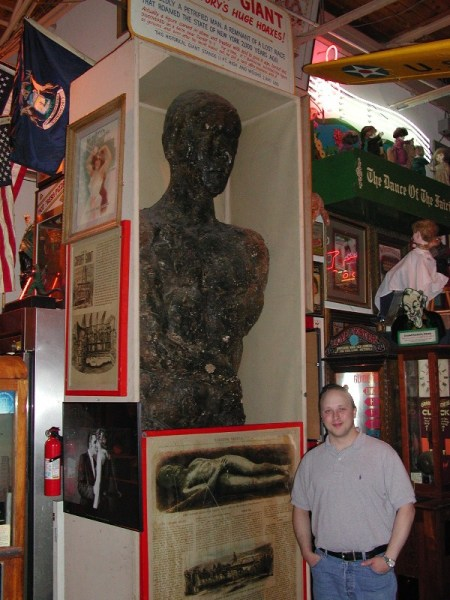 Barnun's Cardiff Giant at Marvin's Marvelous Mechanical Museum, Michigan