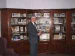 Funeral Home owner John Herzig standing in front of his Funeral Collection in Dover, Ohio