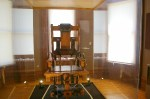 Replica of Ohio's electric chair at Mansfield Reformatory