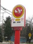 A Barberton Chicken Sign