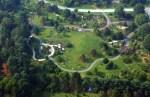 Aerial view of Secrest Arboretum in Wooster