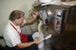 Dan Steiner making a batch of Heifer Tracks Ice Cream